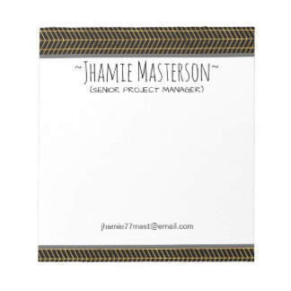 Personalized Gold Flex Notepad