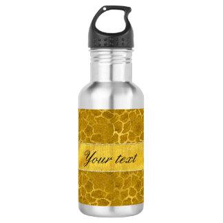 Personalized Gold Foil Giraffe Skin Pattern