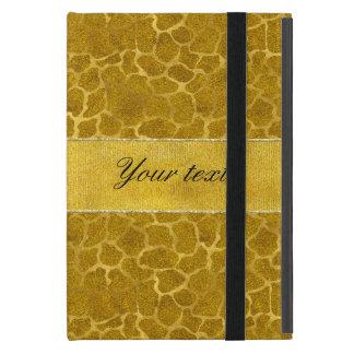 Personalized Gold Foil Giraffe Skin Pattern Cover For iPad Mini
