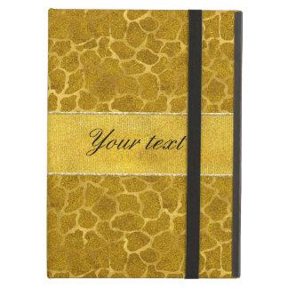 Personalized Gold Foil Giraffe Skin Pattern iPad Air Case