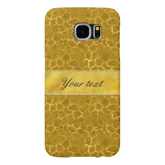 Personalized Gold Foil Giraffe Skin Pattern Samsung Galaxy S6 Cases