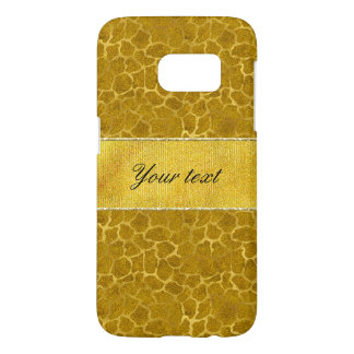 Personalized Gold Foil Giraffe Skin Pattern Samsung Galaxy S7 Case