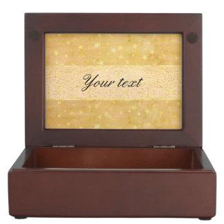 Personalized Gold Foil Stars Watercolor Keepsake Box