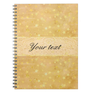 Personalized Gold Foil Stars Watercolor Notebooks