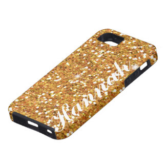 Personalized gold Glitter IPhone5 vibe Case