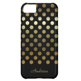 Personalized: Gold Polka-dot iPhone 5C Cases