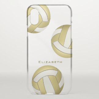 personalized gold women's volleyball iPhone x case