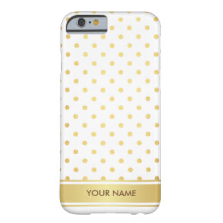 Personalized Golden Dots Glam White Case