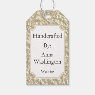 Personalized Golden Handcrafted Tag Pack Of Gift Tags