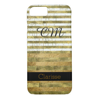 personalized golden stripes iPhone 7 case