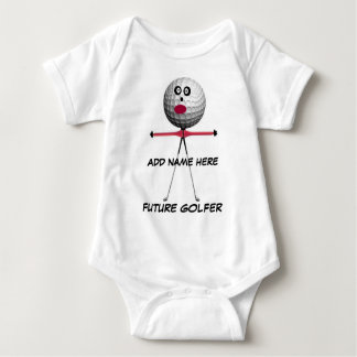 Personalized Golf Baby Cartoon Baby Bodysuit