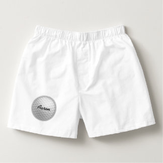 Personalized Golf Ball Men's Boxers Underwear Gift