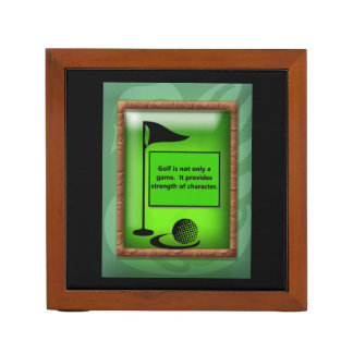 PERSONALIZED GOLF DESK ORGANIZER