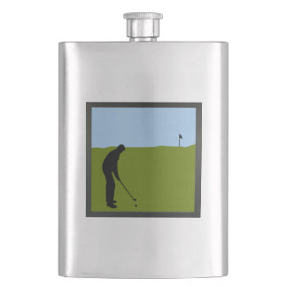 Personalized golf flask