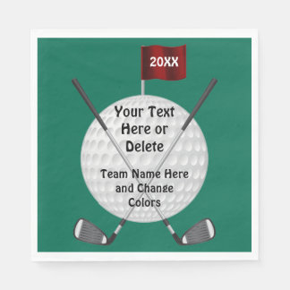 Personalized Golf Party Supplies, Golf Napkins Disposable Napkin