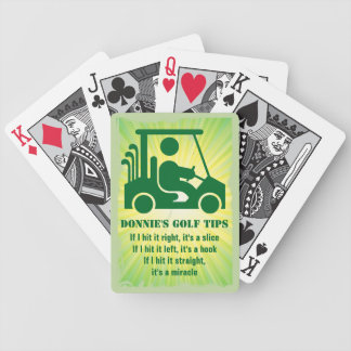 Personalized Golf Tip Golfer Cart Playing Cards
