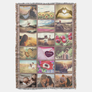 Personalized good memories collage throw blanket