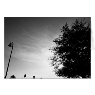 Personalized Good Morning - Black and White Card