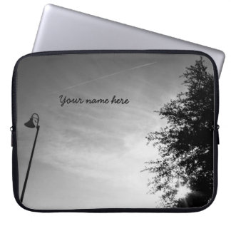 Personalized Good Morning - Black and White Laptop Sleeve