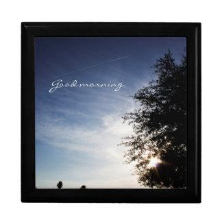 """Personalized """"Good morning"""" sunrise Gift Box"""