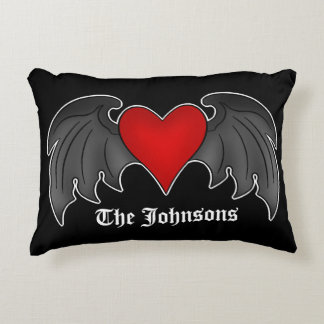 Personalized Gothic heart Accent Pillow