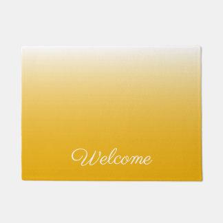 Personalized gradient ombre yellow doormat