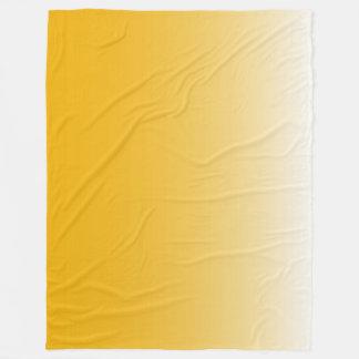 Personalized gradient ombre yellow fleece blanket