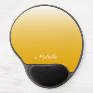 Personalized gradient ombre yellow gel mouse pad