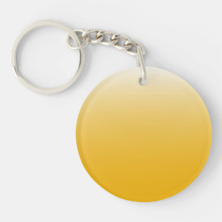 Personalized gradient ombre yellow keychain