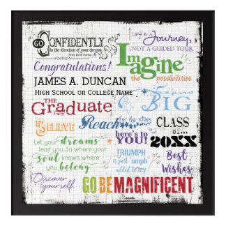 Personalized Graduation Inspirational Keepsake Acrylic Print