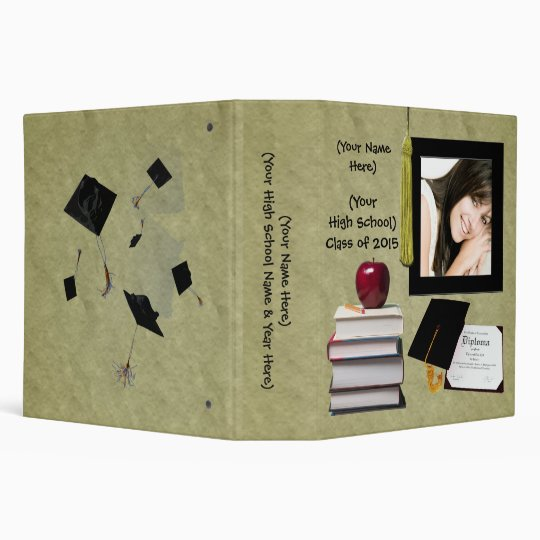 Personalized Graduation Or High School Memory Book Binder