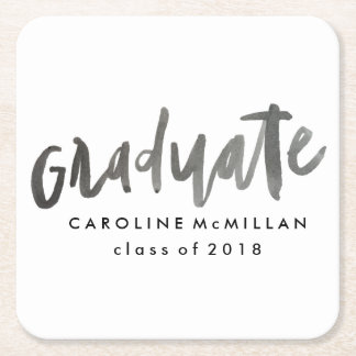 Personalized Graduation Square Paper Coaster