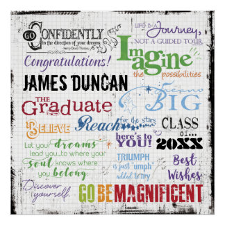 Personalized Graduation Word Art Poster