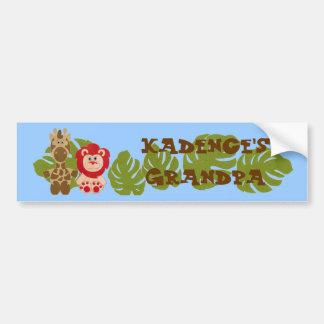 Personalized Grandma or Grandpa Bumper Sticker