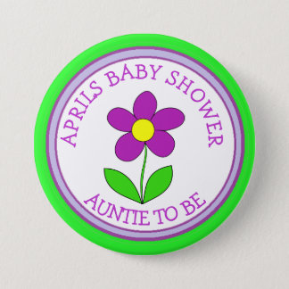 "Personalized ""Grandma to be"" Baby Shower Button"