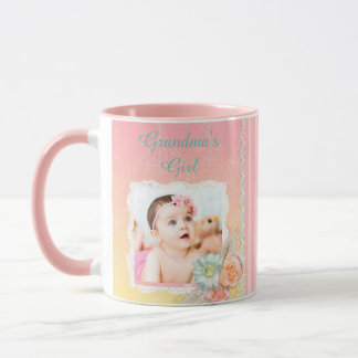"Personalized ""Grandma's Girl"" Pink Coffee Mug"
