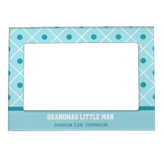 Personalized: Grandmas Little Man: Magnetic Frame