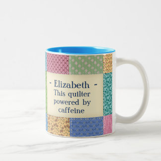 Personalized Grandma's Quilt Custom Two-Tone Coffee Mug