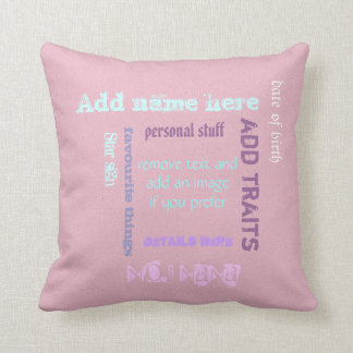 Personalized Grandmother nana granny wordcloud Throw Pillow