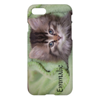 Personalized Gray Kitten iPhone 7 Case