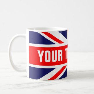 Personalized Great Britain Flag Coffee Mug