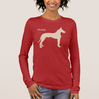 Personalized Great Dane Long Sleeve T-Shirt
