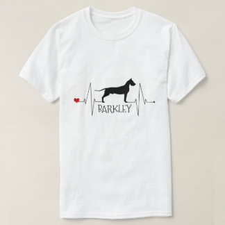 Personalized Great Dane Love My Dog Heart Beat T-Shirt