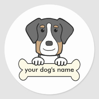 Personalized Greater Swiss Mountain Dog Round Sticker