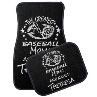 Personalized Greatest Baseball w Ball Bat Glove Car Carpet