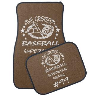 Personalized Greatest Baseball w Ball Bat Glove Floor Mat