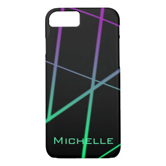 Personalized Green and Purple Gradient Lines iPhone 8/7 Case