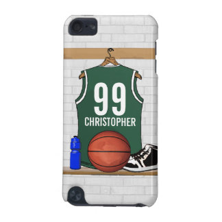 Personalized Green and White Basketball Jersey iPod Touch 5G Case
