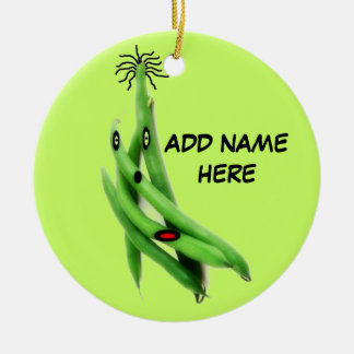 Personalized Green Bean Cartoon Ceramic Ornament