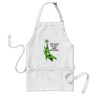 Personalized Green Bean Cartoon Standard Apron